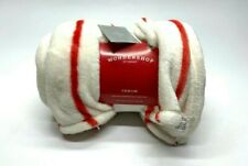 Wondershop Throw Standard Polyester Blanket White Red Holiday New Home