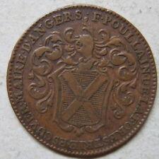 Angers jeton cuivre Poullain maire 1707  / French copper jetton Louis XIV