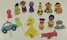 Vintage Paper Doll Lot Toy MUPPETS Sesame Street Finger Puppets Big Bird Ernie