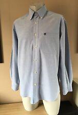 Timberland Da Uomo Heavy Cotton Abbottonato Camicia Casual condizione Super Taglia M