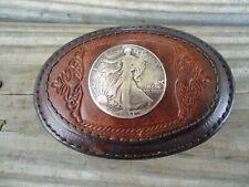 New listing Vintage Appaloosa Trading Colorado Walking Liberty Half Dollar Coin Belt Buckle