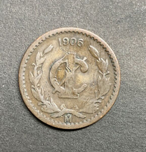1906 Mexico Mexican 1 Centavo KM #415 Foreign World Vintage Eagle 1 C Cent Coin