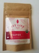 Fit Life Tea Co  Organic Metabolic Teatox Tea Sample Size (2 tea Bags) Sealed