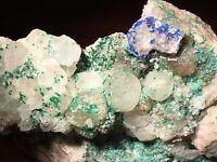 NICE!! Fluorite, Linarite, Galena, Brochantite - Blanchard Mine, New Mexico