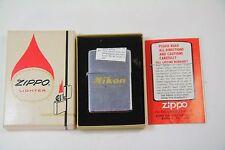 Vintage 1978 Nikon Camera Zippo Brand Lighter in Original Box Brand Advertising