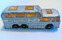 No.66 Matchbox Series 1-75 Lesney Silver Diecast Greyhound Coach