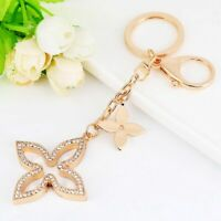 Keychain Bag Charm Purse Chain Flower Ring Crystals Auto Keys Creative Pendant