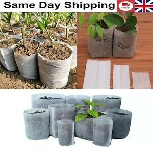 Plant Grow Bags Biodegradable Non Woven Fabric Nursery Plant Ventilate Bags 10pc