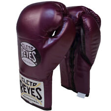 Cleto Reyes Official Lace Up Competition Boxing Gloves - Purple