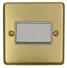 G&H CSB69W Standard Plate Brushed Brass 1G Triple Pole 10A Fan Isolator Switch