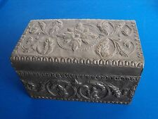 Antique Made in the Philippines Metal chest box decorative