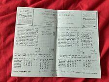More details for 1953 ashes series england v australia 1st test cricket @ trent bridge scorecard