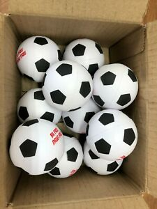 LOT OF 10 SOCCER STYLE STRESS BALLS 2.5 INCH - NEW