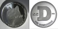 Dogecoin Doge .999 Silver Coin Round 1 oz Shibe Mint Bitcoin 2021 COA #250/2500