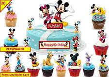 Mickey Mouse Clubhouse Cup Cake 3d escena Toppers Cumpleaños Oblea Comestibles Stand Up