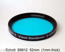 Schott S8612  52mm x 1mm thick Visual Bandpass IR Suppression UV/IR Cut Filter