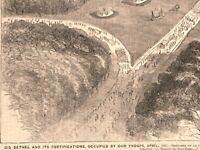 Big Bethel Civil War birds-eye view during occupation 1862 historical print