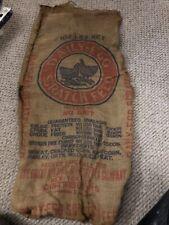 New listing Daily-egg Scratch Feed Original burlap Sack Bag 100lbs Farm Americana