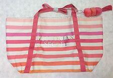 NWT Victoria's Secret Summer Tote Beach Shoulder Bag Logo Stripe