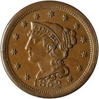 1852 Large Cent Nice Unc Nice Eye Appeal Nice Strike
