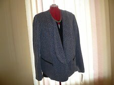 NWT Sejour (Nordstrom) long sleeve lined jacket/blazer in black/white twist s24W