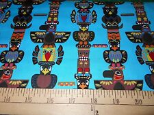 "1 yard David Textiles ""Totem Poles"" Fabric"