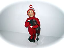Byers Choice 2000 Xmas Traditions Boy in Dr. Dentons With Stocking