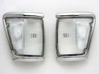 88-97 TOYOTA HILUX LN111 4WD 4X4 CHROME INDICATOR CORNER LIGHT PAIR LN106 LN107