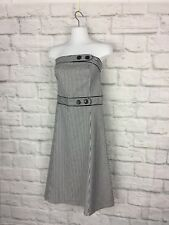 Daisy Size 10 Strapless  Striped Black & White Fitted Cotton Spandex Dress