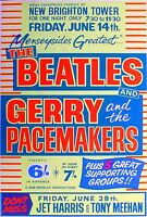 Music Poster Reprint The Beatles Gerry & The Pacemakers New Brighton Tower 1963
