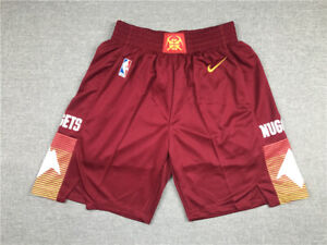 New Adult Size Red Color Denver Nuggets Shorts City Edition S M L XL XXL