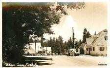 1940s Blue Jay California Woody Wagon Big Bear RPPC Real photo postcard 5722