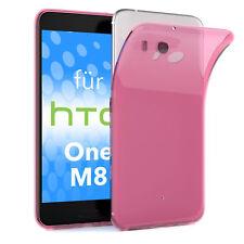 Schutz Hülle für HTC One M8 Case Silikon Handy Cover Pink
