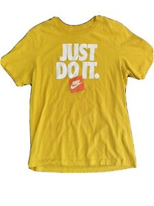 Mint! 2021 Nike Boy's Yellow Just Do It T Shirt Sz. Medium