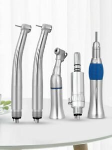 PANA MAX NSK Style Dental 4/2 Holes High & Low Speed Handpiece Kit Contra angle