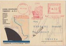 ITALIA1941 OCCUP AFRICA ORIENTALE GARIBALDI NAVIGAZIONE SU LINEA REGOLARE TIRENO
