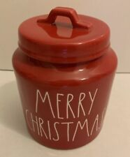 """New listing Rae Dunn Red """"Merry Christmas� Canister Cookie Jar"""