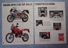 MOTOSPRINT989-PUBBLICITA'/ADVERTISING-1989- GILERA SP01 E RC TOP RALLY (B)