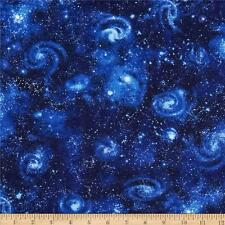 Stars Fabric Galaxy Night Sky Fat Quarter Cotton Craft Quilting - Robert Kaufman