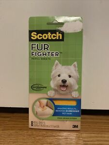 Scotch Fur Fighter Refill 8 Sheets New Pack Upholstery Pet Hair Fur Remover