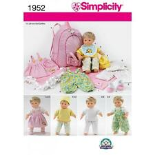 "SIMPLICITY SEWING PATTERN 15"" (38CM) BABY CLOTHES BLANKET & DOLL CARRIER 1952"