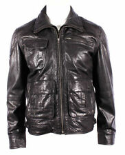 Infinity Zip Hip Length Leather Coats & Jackets for Men