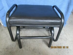 Black Faux Leather Glider Stool (#19)