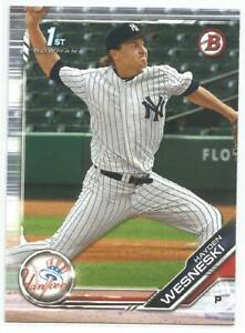 Hayden Wesneski New York Yankees 2019 Bowman Draft 1st Bowman Card