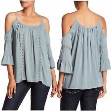06ce4d784dbb32 NWT  118 Romeo   Juliet Couture Women Blouse Cold Shoulder Lace Boho Size M