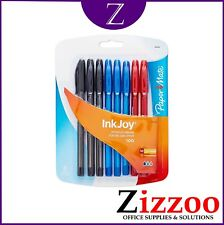 PAPER MATE INKJOY BALLPOINT PENS MIXED COLOURS PACK OF 8 WITH FREE POSTAGE