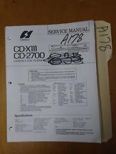 Sansui cd-x111 2700 Service Manual Original Repair Book Stereo