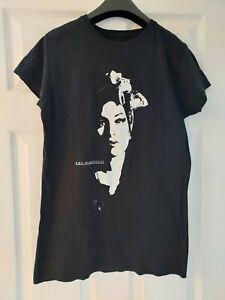Amy Winehouse T Shirt Size XL Black Ladies 14