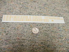 "Herald King decals O Lexington and Ohio passenger 6"" 3"" letters yellow ochre XX3"