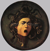 CARAVAGGIO   MEDUSA ARTIST PAINTING REPRODUCTION HANDMADE OIL CANVAS REPRO DECO